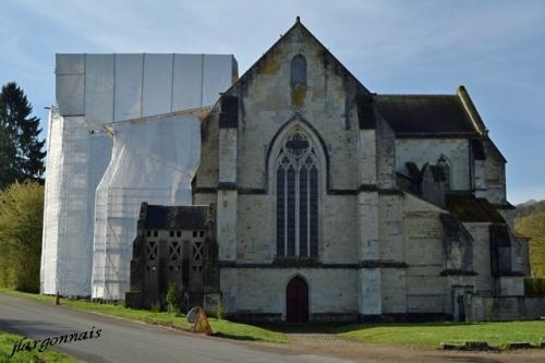 Abbaye de lachalade travaux 2018 3