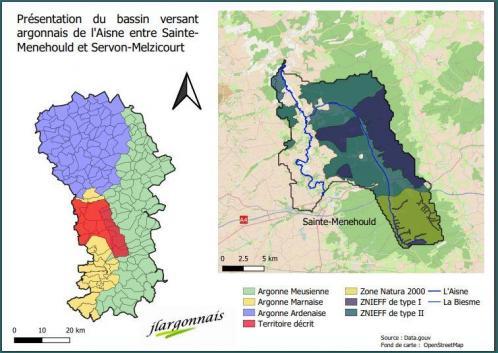 Aisne bassin versant menou servon