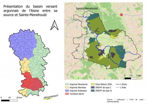 Aisne carte bassin versant source