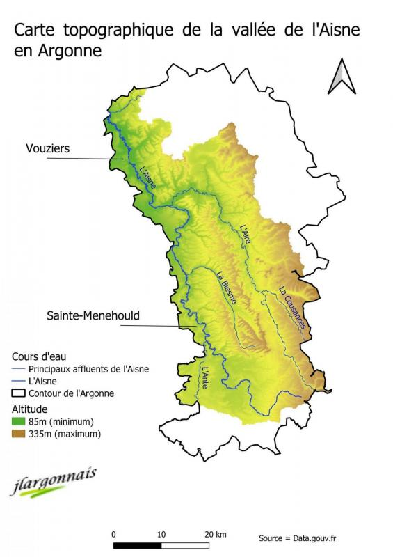 Aisne carte bassin versant