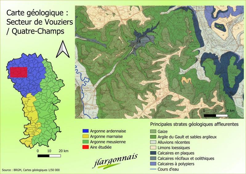 Carte geologique secteur vouziers 2021 05