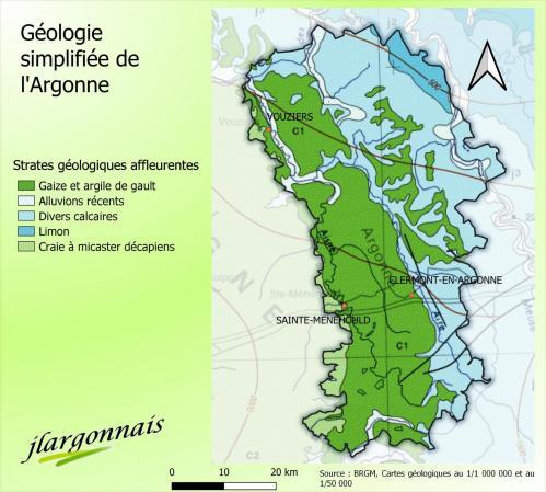 Geologie argonne carte simplifiee 2021